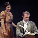 Leslie with Mark Koelsch in David Copperfield. Photo by James Smagata.