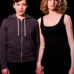 Romeo (Leslie McBay) and her Juliet (Kristina Bojanowski).