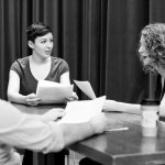 Scott Moyle, Leslie McBay and Kristina Bojanowski reading Romeo and (her) Juliet.